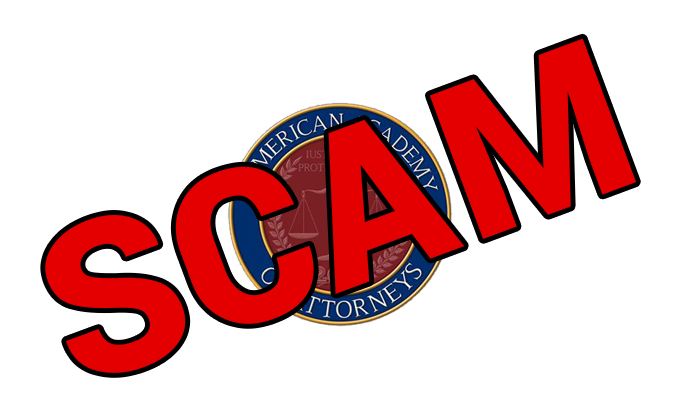 American Academy of Attorneys – SCAM