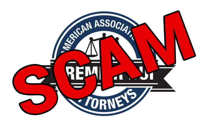 American Association of Premier DUI Attorneys – SCAM