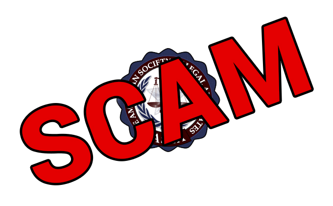 American Society of Legal Advocates – SCAM