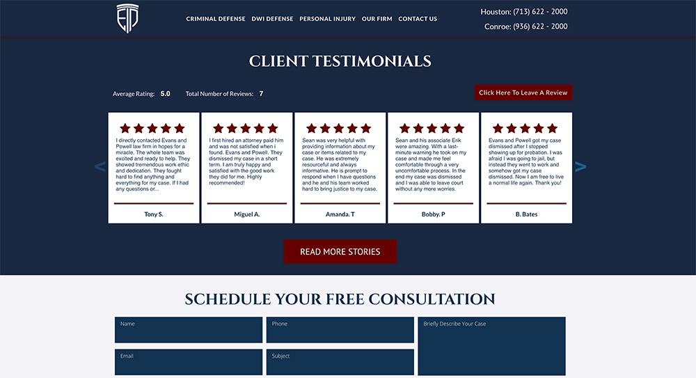Evans & Powell Website