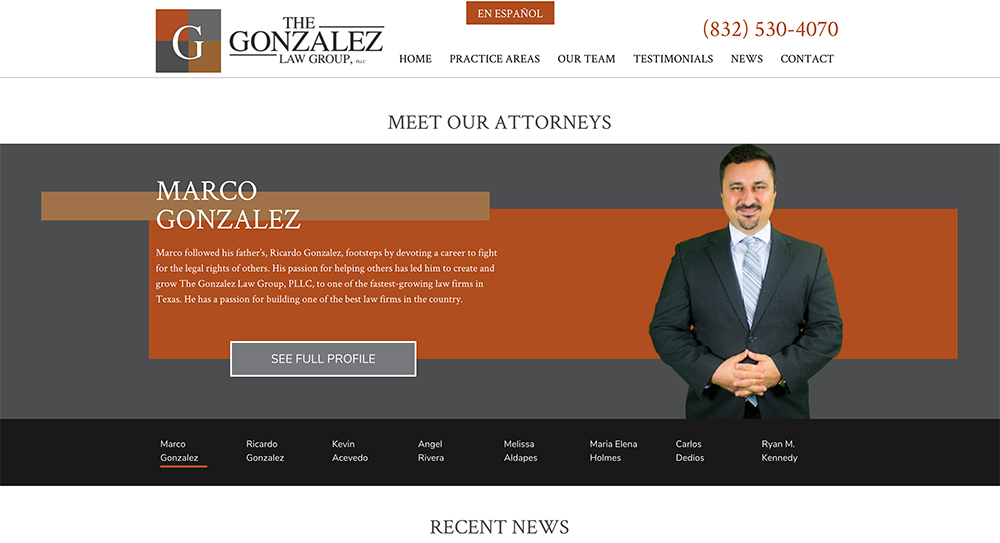 Gonzalez Website