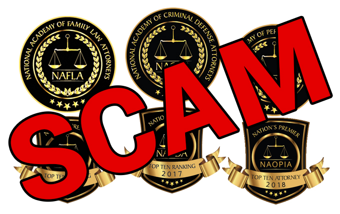 National Academy of Family Law Attorneys – SCAM National Academy of Criminal Defense Attorneys – SCAM National Academy of Personal Injury Attorneys – SCAM